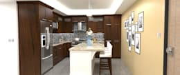 Cocinas de estilo moderno por Atahualpa 3D
