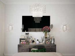 Квартира в стиле современной классики, 62 кв.м.: Спальни в . Автор – Студия дизайна интерьера Маши Марченко