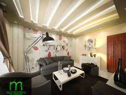 Living room:  غرفة المعيشة تنفيذ EL Mazen of Finishes and Trims