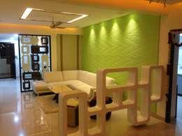 507 meenakshi: modern Living room by KEYSTONE DESIGN STUDIOS