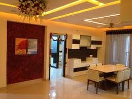 507 meenakshi: modern Dining room by KEYSTONE DESIGN STUDIOS