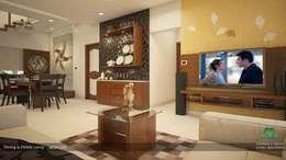 Modern Contemporary: modern Living room by Premdas Krishna