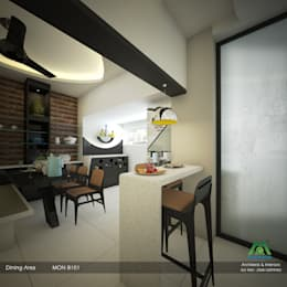 Modern Contemporary: modern Dining room by Premdas Krishna