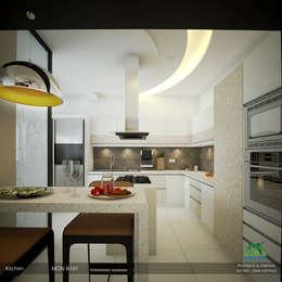 Modern Contemporary: modern Kitchen by Premdas Krishna