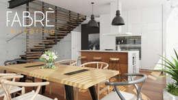 LOFT - CONFORT: Comedores de estilo moderno por FABRE STUDIO
