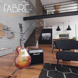 LOFT - DETALLES: Salas de entretenimiento de estilo moderno por FABRE STUDIO