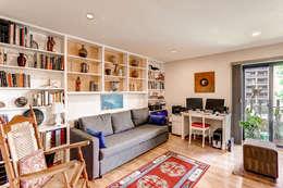 Condo on Washington Park : classic Living room by Studio Design LLC