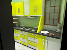 Modular Kitchen: modern Kitchen by EBEESDECOR