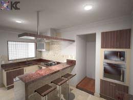 Cocinas de estilo  por KC ARQUITETURA urbanismo e design
