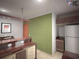 Apartamento VL: Cozinhas clássicas por KC ARQUITETURA urbanismo e design