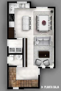 Couloir et hall d'entrée de style  par CDR CONSTRUCTORA