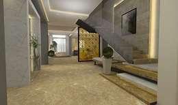 تصميم شقة في مدينة 6 اكتوبر:  الممر والمدخل تنفيذ Ain Designs Studio