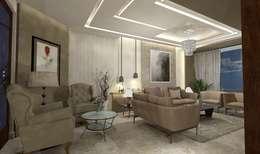 Salas de estilo moderno por Ain Designs Studio
