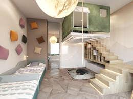 Пентхаус в Садовых Кварталах: Детские комнаты в . Автор – Shamsudin Kerimov Architects