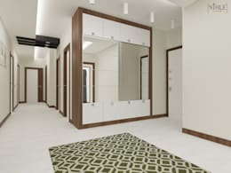 nihle iç mimarlık – Ergun İnşaat Örnek Daire:  tarz Koridor ve Hol