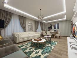 modern Living room by nihle iç mimarlık