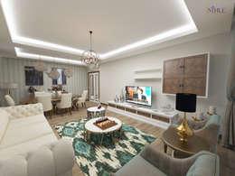 Projekty,  Salon zaprojektowane przez nihle iç mimarlık