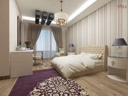 nihle iç mimarlık – Ergun İnşaat Örnek Daire: modern tarz Yatak Odası