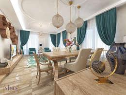 nihle iç mimarlık – Ergun İnşaat Örnek Daire: modern tarz Oturma Odası