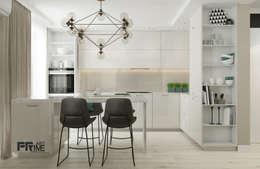 Квартира-студия  в современном стиле. Бюджетный вариант!: Кухни в . Автор – 'PRimeART'