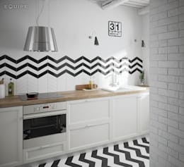 scandinavian Kitchen by Equipe Ceramicas