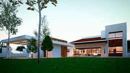 Maisons de style de style Méditerranéen par Laboratorio Mexicano de Arquitectura