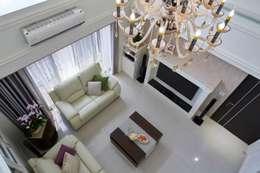 Projekty,  Salon zaprojektowane przez 采金房 Interior Design