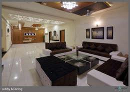 Three Storey Grand Residence @Paota,Jodhpur: modern Living room by RAVI - NUPUR ARCHITECTS