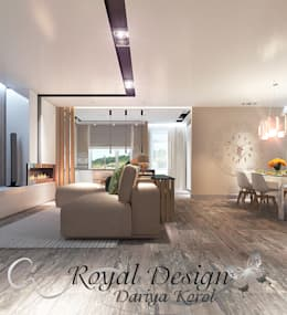 minimalistic Living room by Your royal design