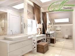 浴室 by Компания архитекторов Латышевых 'Мечты сбываются'