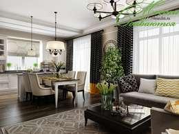 country Living room by Компания архитекторов Латышевых 'Мечты сбываются'