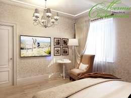 country Bedroom by Компания архитекторов Латышевых 'Мечты сбываются'