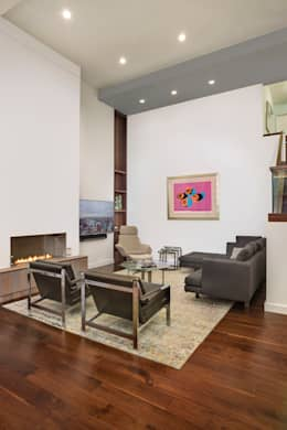 Laight Street Duplex: modern Living room by Rodriguez Studio Architecture PC
