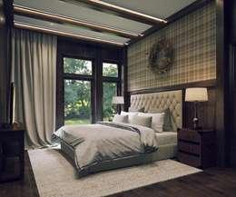 Дизайн интерьера в двухэтажном коттедже: Спальни в . Автор – META-architects архитектурная студия