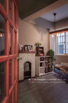 輕工業風-畫室:  書房/辦公室 by 大不列顛空間感室內裝修設計