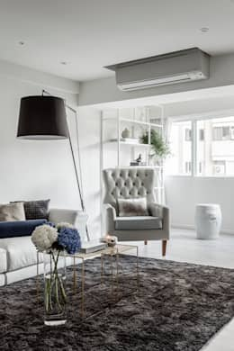 scandinavian Living room by 潤澤明亮設計事務所