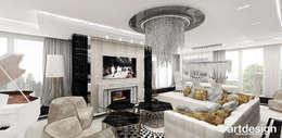 غرفة المعيشة تنفيذ ARTDESIGN architektura wnętrz