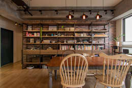 industrial Dining room by 珞石設計 LoqStudio