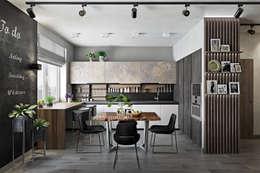 Дизайн-проект квартиры в ЖК Union Park: Кухни в . Автор – Дизайн Мира