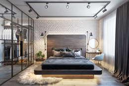 Dormitorios de estilo industrial de Дизайн Мира