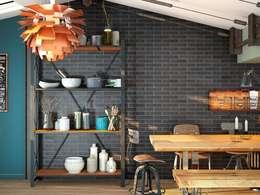 Cocinas de estilo industrial por Avilcasa materiales de construcción,s.l.