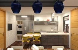 eclectic Kitchen by Arq. Rodrigo Culebro