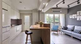 台中米蘭:  廚房 by 思維空間設計