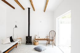 rustic Study/office by Arkstudio