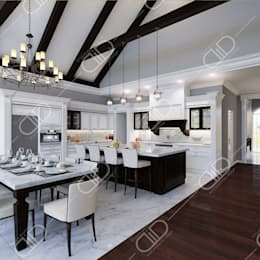 Interior Design and Rendering: colonial Kitchen by Design Studio AiD
