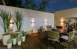 Terrazas de estilo  por Cris Nunes Arquiteta