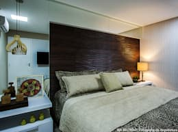Dormitorios de estilo  por Cris Nunes Arquiteta