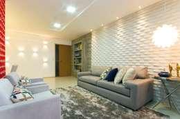 Salas de estilo  por Cris Nunes Arquiteta