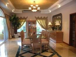 CASA AMARILLA / YELLOW HOUSE : Comedores de estilo ecléctico por SG Huerta Arquitecto Cancun