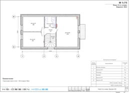 План 2-го этажа: Дома в . Автор – hq-design
